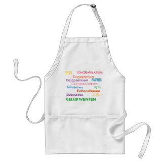 Congratulations in Many Languages Adult Apron