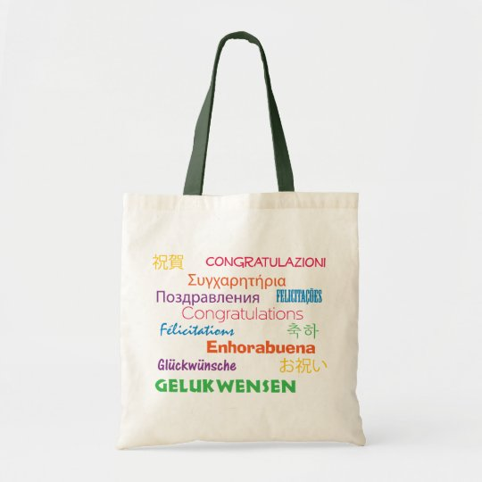 Congratulations in Many Languages Bag