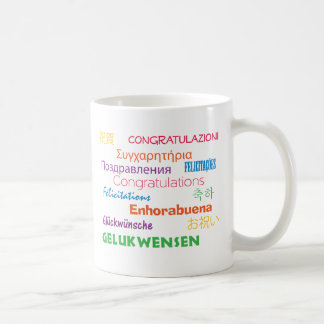 Congratulations in Many Languages Mug