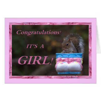 Congratulations… It's A Girl! Greeting Card