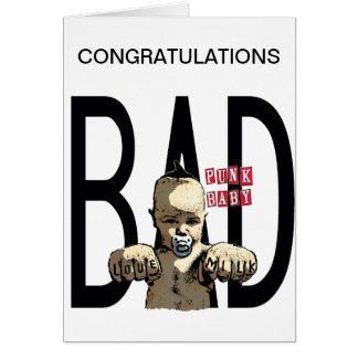 Congratulations It's a Bad Boy! Card