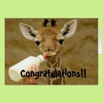 Congratulations Its a Boy - Baby Giraffe Card