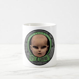 """""""Congratulations! It's A Ghoul!"""" Stickers Coffee Mug"""