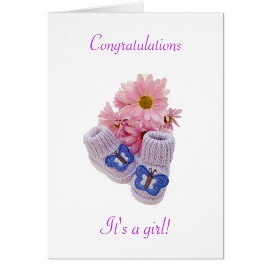 Congratulations: It's a girl! Card