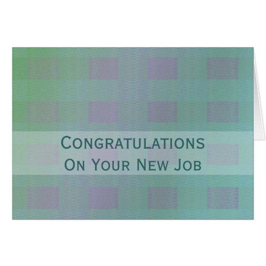 Congratulations Job pastel teal Card