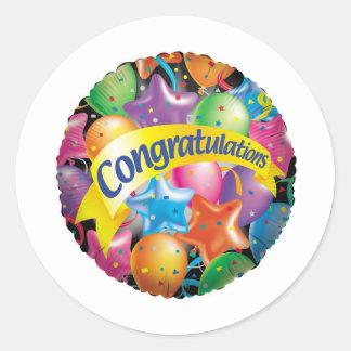 Congratulations.jpg Pegatina Redonda