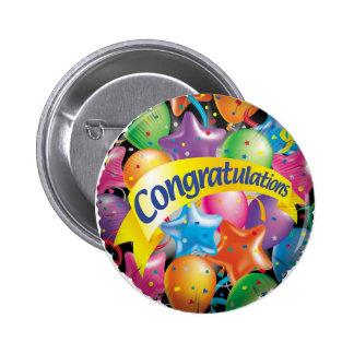 Congratulations.jpg Pin Redondo De 2 Pulgadas