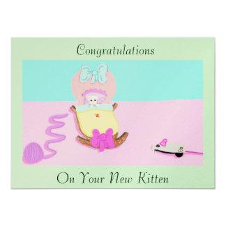 Congratulations; Kitten 6.5x8.75 Paper Invitation Card
