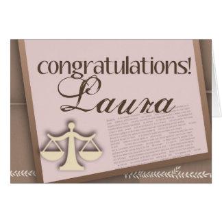 Congratulations Law School Graduate Cards
