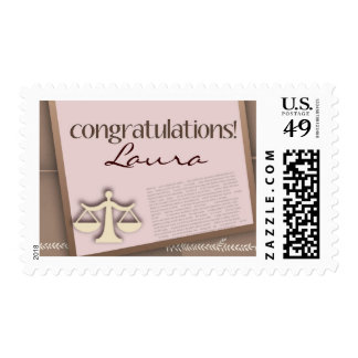 Congratulations Law School Graduate Postage