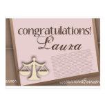 Congratulations Law School Graduate Postcard