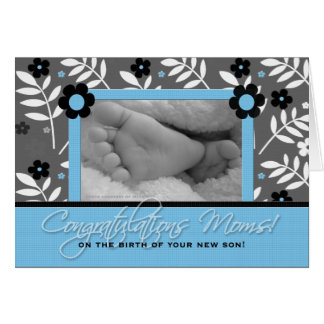 Congratulations Lesbian Moms - Birth of a Son Card