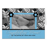 Congratulations Lesbian Moms - Birth of a Son Greeting Card