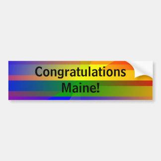 """Congratulations Maine!"" Car Bumper Sticker"