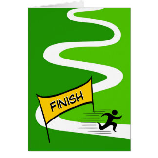 Congratulations/ Marathon Greeting Card