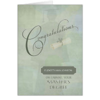 Congratulations Masters Degree Graduate w-name Card