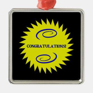 Congratulations Metal Ornament
