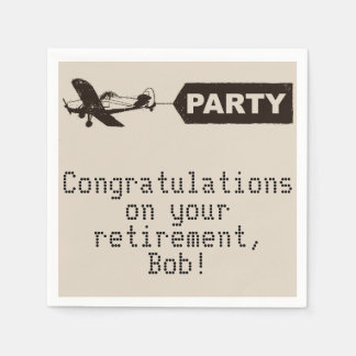 Congratulations Military Retirement Party Napkins