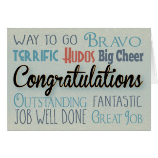 Congratulations Modern Typography Card
