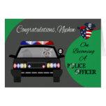 Congratulations, Nephew, Police Greeting Card