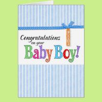 congratulations new baby boy card