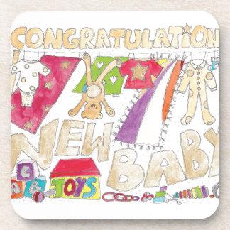 Congratulations - New Baby. Coaster