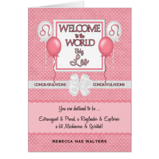 Congratulations New Baby Girl Leo Card