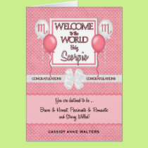 Congratulations New Baby Girl Scorpio Card