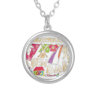 Congratulations - New Baby. Round Pendant Necklace