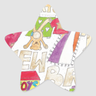 Congratulations - New Baby. Star Sticker