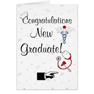 Congratulations New Graduate-Nurse Humor Greeting Cards