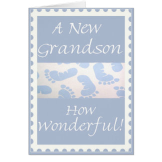 Congratulations-New Grandson Greeting Card