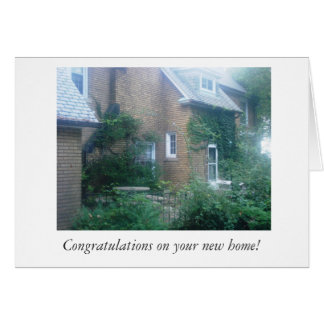 Congratulations/new home card