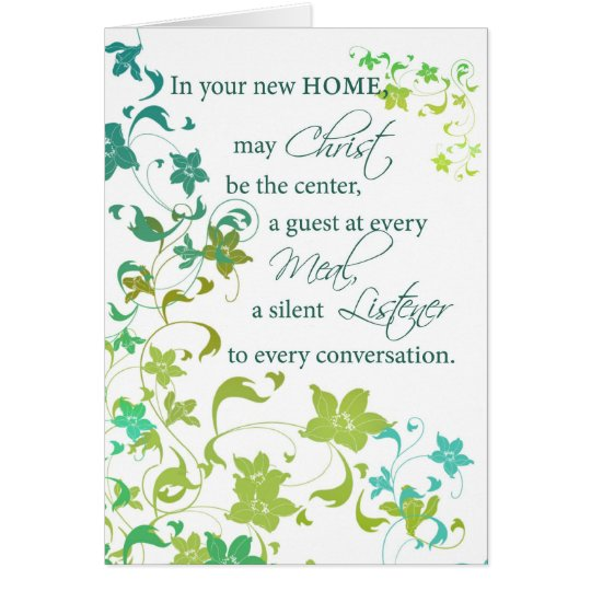 Congratulations new home christ center religious card for Enjoy your new home images