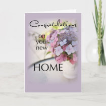 Congratulations New Home, Flowers Card