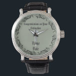 "Congratulations Newly Ordained Ordainment Gift Wristwatch<br><div class=""desc"">Featured in this store is a wide range of gifts suitable for all members of the clergy including Priest, Nun, Deacon, Pastor, Bishop and more. To create a unique commemorative item, you can edit the templates using the customize or personalize tab. ____________________________________________________________________________ 1. For assistance, custom design or matching items...</div>"