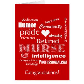 Congratulations Nurse Retirement-Red Card