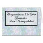 Congratulations Nursing School Graduation Greeting Card