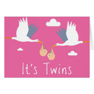 Congratulations of the Birth Card (Girl Twins)