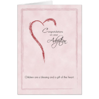 Congratulations on Adoption of Girl, Religious Greeting Cards