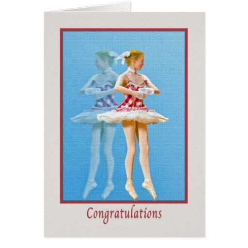 Congratulations on Ballet Dance Recital Cards