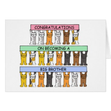 Toddler & Baby themed Congratulations on becoming a big brother. card