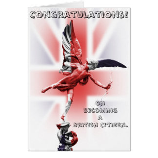 Congratulations on becoming a British Citizen! Card