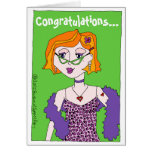 "Congratulations on Becoming a ""Glam-ma!"" Grandma Greeting Card"