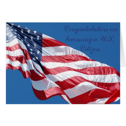 Congratulations On Becoming A US Citizen Card
