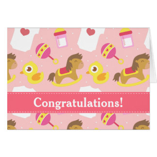 Congratulations on Birth of Baby Girl Card