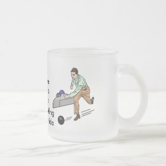Congratulations on Bowling 300 Game, Customizable Frosted Glass Coffee Mug