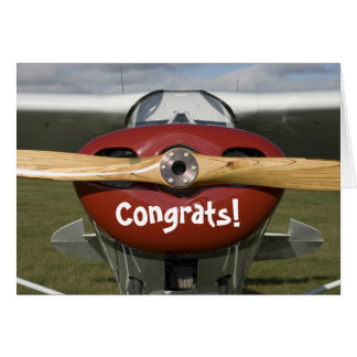 Congratulations on Earning your Pilot's License Card