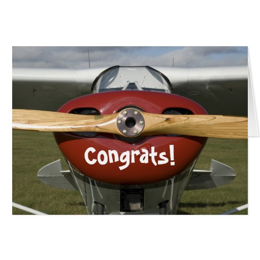 Congratulations on Earning your Pilot's License Greeting Card