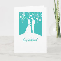 Congratulations on getting married wedding card